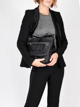 Shoulder Bag Soft Vintage Nova Leather Lancaster Black soft vintage nova 5761-vue-porte