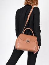 Leather Top-handle Foulonné Pia Lancaster Black foulonne pia 63-vue-porte