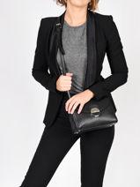 Leather Crossbody Bag Foulonné Pia Lancaster Black foulonne pia 60-vue-porte