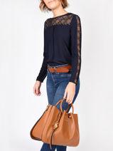 Shopping Bag Gretel Ted lapidus Gold gretel TLAU8924-vue-porte