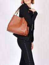 Leather Dalton 31 Shoulder Bag Coach Orange dalton 73545-vue-porte