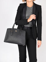 Top Handle Charlie Leather Coach Black charlie 25137-vue-porte