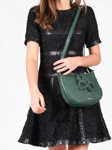 Crossbody Bag Tradition Leather Etrier Green tradition EHER3A-vue-porte