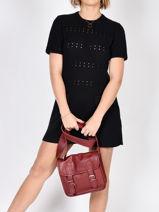 Shoulder Bag Vintage Leather Paul marius Multicolor vintage S-vue-porte