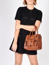 Shopping Bag Vintage Leather Paul marius Brown vintage S-vue-porte