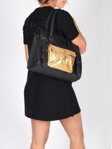 Shopper Vintage Leather Paul marius Black vintage M-vue-porte