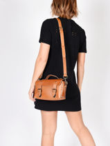 Shoulder Bag Vintage Leather Paul marius Beige vintage ARTISANE-vue-porte