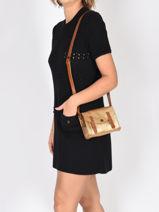 Leather Crossbody Bag Mini Indispensable Paul marius Gold vintage MINI-vue-porte