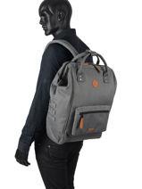 Large Tour Du Monde Backpack Cabaia Gray tour du monde L-vue-porte