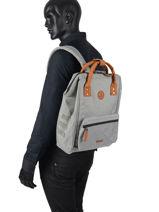 Backpack Cabaia Gray tour du monde APERO-vue-porte