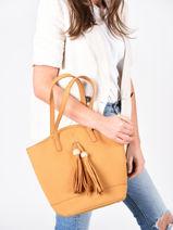 Shoulder Bag Iris Woomen Yellow iris WIRIS05-vue-porte
