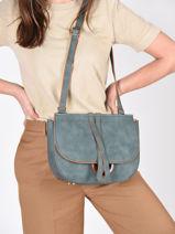 Shoulder Bag Acacia Woomen Blue acacia WACAC06-vue-porte