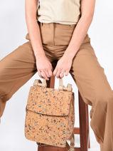 Backpack Coquelicot Woomen Beige coquelicot WCOL02-vue-porte