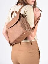 Backpack Dahlia Woomen Brown dahlia WDAH06-vue-porte