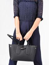 Longchamp Roseau Handbag Black-vue-porte