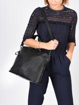 Longchamp Le foulonné Handbag Black-vue-porte