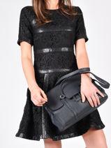 Shoulder Bag Tradition Leather Etrier Blue tradition EHER27-vue-porte