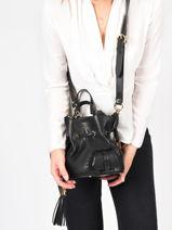 Small Tote Bag Premier Flirt Lancel Black premier flirt A10109-vue-porte