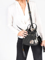 Small Leather Bucket Bag Premier Flirt Python Lancel Black premier flirt A10528-vue-porte