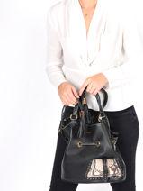 Medium Leather Bucket Bag Premier Flirt Python Lancel Black premier flirt A10529-vue-porte