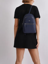 Backpack Lacoste Blue daily classic NF2773DC-vue-porte