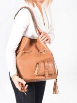 Large Leather Bucket Bag Premier Flirt Lancel premier flirt A10924-vue-porte