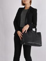 Shopping Bag Les Marquises Leather Nathan baume Black les marquises N1720104-vue-porte