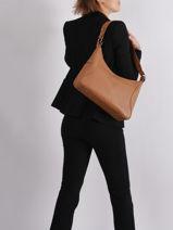 Leather Shoulder Bag Soaz Cruise Nathan baume Brown cruise N1721027-vue-porte