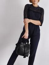 Leather Bucket Bag Bubble Gerard darel Black bubble DMS17403-vue-porte