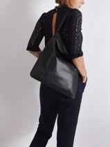 Hobo Bag Soft Leather Gerard darel Black soft K448-vue-porte