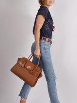 Handbag Carmen M Michael kors Brown carmen S0GNMS7L-vue-porte