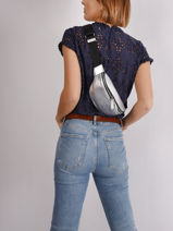 K Ikonik Belt Bag Karl lagerfeld Silver k ikonic nylon 210W3011-vue-porte