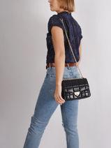 Leather Soho Quilted Shoulder Bag Michael kors Black soho F0G1SL3L-vue-porte