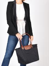 Longchamp Le pliage Hobo bag Black-vue-porte