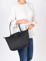 Longchamp Le pliage neo Hobo bag Black-vue-porte