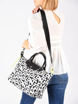 Longchamp Le pliage lgp Handbag White-vue-porte