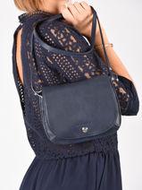 Longchamp Le foulonnÉ Messenger bag Blue-vue-porte
