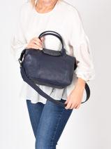 Longchamp Le pliage cuir Handbag-vue-porte