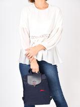 Longchamp Le pliage club Backpack Blue-vue-porte