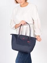 Longchamp Le pliage club Hobo bag Blue-vue-porte