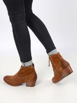 Boots a talon en cuir-MJUS-vue-porte