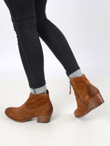 Suede leather ankle boots-MJUS-vue-porte
