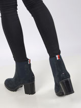 Bottines à talon rugged classic -TOMMY HILFIGER-vue-porte