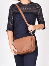 Longchamp Le foulonné Messenger bag Brown-vue-porte