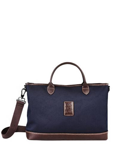 Longchamp Boxford Serviette Bleu
