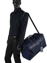 Longchamp Le pliage neo Travel bag Blue-vue-porte