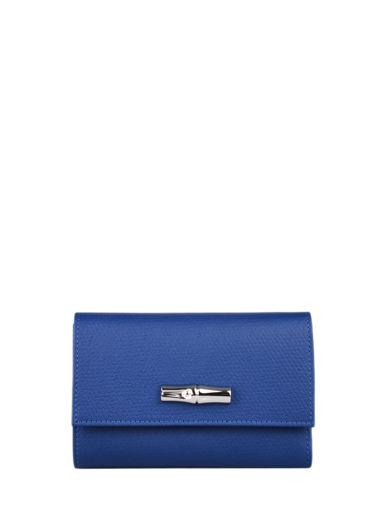 Longchamp Roseau nÉon Wallet Blue
