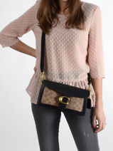Shoulder Bag Tabby Leather Coach Brown tabby 91215-vue-porte