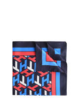 Foulard Iconic Tommy Tommy hilfiger Bleu accessoires AW08785