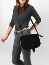 Crossbody Bag Tornade Leather Etrier Black tornade ETOR01-vue-porte